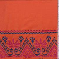 Tangerine Fiesta Embroidered Lawn