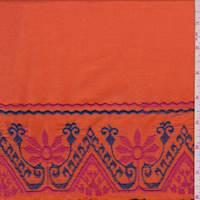 Tangerine Fiesta Embroidered Lawn