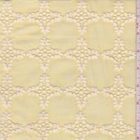 Pale Yellow Foulard Check Embroidered Lawn