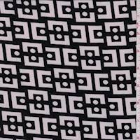Black/White Modern Crepe de Chine