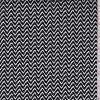 Black/White Zig Zag Stretch Sateen