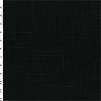 *1 1/2 YD PC--Black Wool Crosshatch Suiting