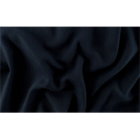 *3/4 YD PC--Midnight Black Wool/Cotton Herringbone Twill