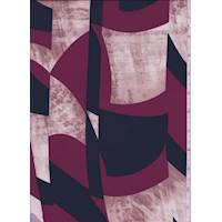 *5 5/8 YD PC--Clay/Cranberry Modern ITY Jersey Knit