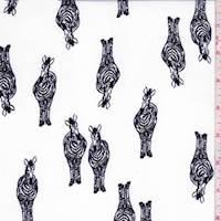 White Zebra Print Georgette