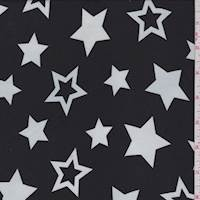 Black/White Star Georgette