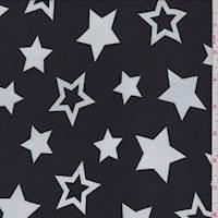 Black/White Star Georgette