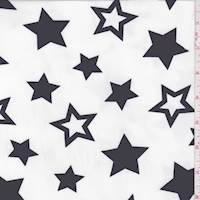 Off White/Black Star Georgette