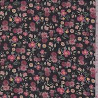 Black/Rose Mini Floral Georgette