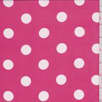 Raspberry Pink Polka Dot Georgette