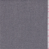 *3 7/8 YD PC--Grey Specked Crepe Suiting