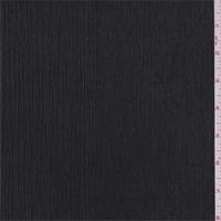 *3 1/4 YD PC--Black Polyester Crinkled Chiffon