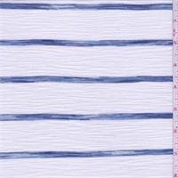 *3 YD PC--White/Denim Blue Stripe T-Shirt Knit