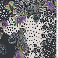 Black/White Multi Stylized ITY Jersey Knit