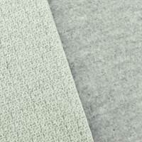 Gentle Gray/White Wool Blend Fleece Back Jacquard Jacketing