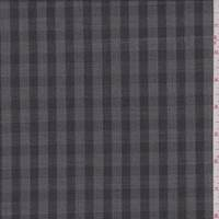 *1 YD PC--Steel Grey/Black Check Wool Blend Suiting