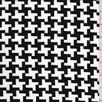White/Black Houndstooth Peachskin