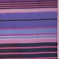 Lilac/Pink/Black Stripe Chiffon