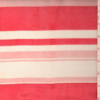 Salmon/Pink Stripe Voile