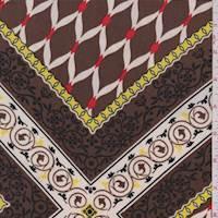 Mocha Ogee Jersey Knit