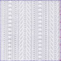 *3 1/8 YD PC--White Deco Stripe Lace