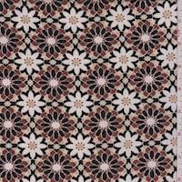 Nutmeg/Beige Floral Medallion Jersey Knit
