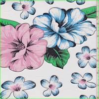 *5 1/8 YD PC--White Multi Floral Mesh