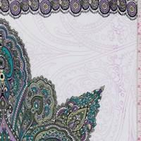 Olive/Lilac Stylized Medallion ITY Jersey Knit