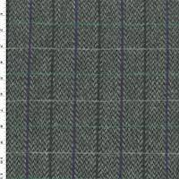 *1 5/8 YD PC--Gray/Purple/Teal Wool Grid Jacketing