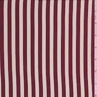 *4  YD PC--Cream/Ruby Stripe Charmeuse