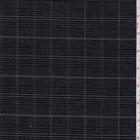 Charcoal/Stone Plaid Cotton Suiting