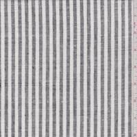 White/Black Stripe Linen Blend