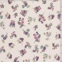 Ecru Mini Floral Crinkle Chiffon