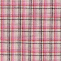 Cream/Coral Plaid Cotton Home Decorating Fabric