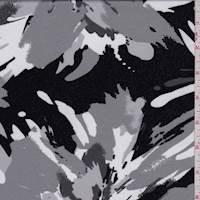 Black/Sterling Modern Floral ITY Jersey Knit