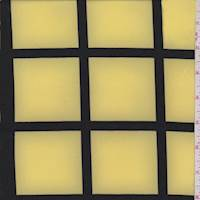 Yellow/Black Windowpane Polyester