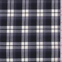 *3 1/4 YD PC--Ink Blue Plaid Flannel