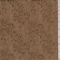*3 5/8 YD PC--Harvest Gold Floral Faille Jacquard