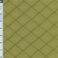"*5 YD PC--Lime 1-1/4"" X 1-1/4"" Diamond Pintuck Taffeta"