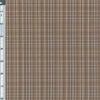 *2 1/2 YD PC--Brown Plaid Yarn Dyed Plaid Shirting