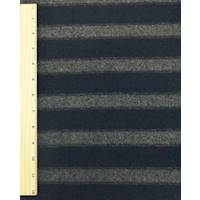 *1 7/8 YD PC--Navy/Brown/Gray Stripe Melton Wool Blend Jacketing