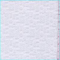 *4 YD PC--Whisper White Modern Knit Lace