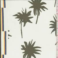 White/Slate Palm Polyester Chiffon