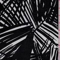 Ivory/Slate Palm Frond Rayon Lawn