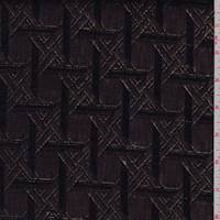 Bronze/Black Lattice Metallic Jacquard