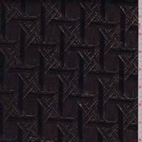 Bronze/Black Lattice Metallic Jacquard