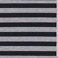 Heather Grey/Navy Stripe Double Knit
