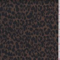 Tobacco Brown Animal Print Matte Satin