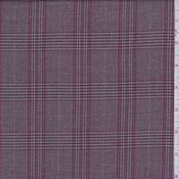 *6 YD PC--Rose/Grey Plaid Suiting