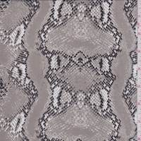 *2 3/8 YD PC--Pumice Snakeskin Silk Chiffon